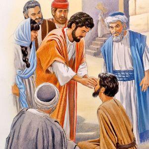Healing the blind man